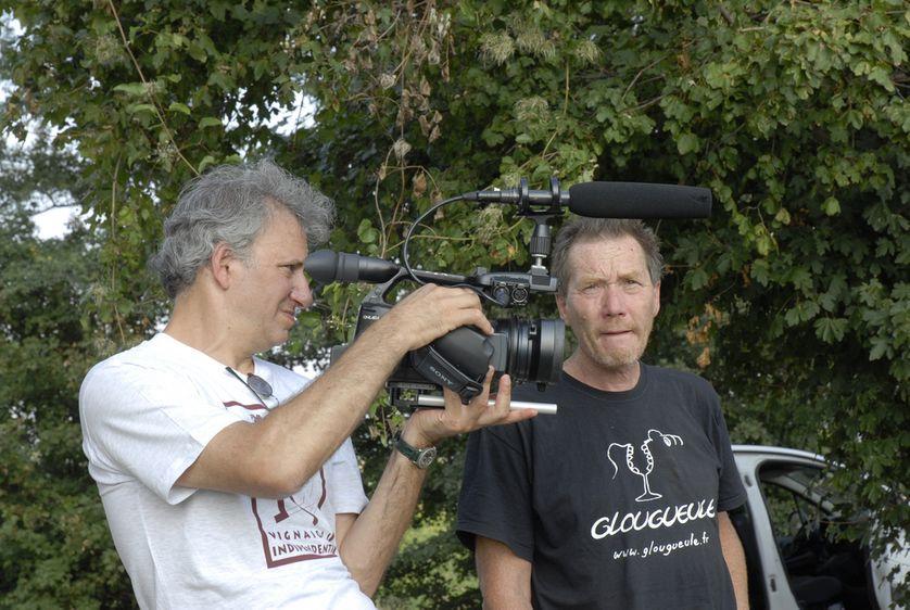 Jonathan Nossiter et Stefano Bellotti dans le Piémont