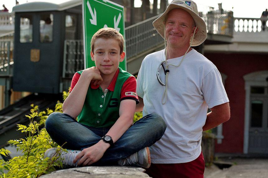 Mr Debec et son fils au Grand Prix de Pau