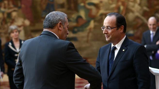 Zaïr Kédadouche avec François Hollande, le 22 février dernier à l'Elysée