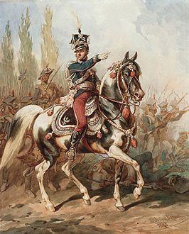 Le général Jan Henryk Dąbrowski dirigeant les légions polonaises