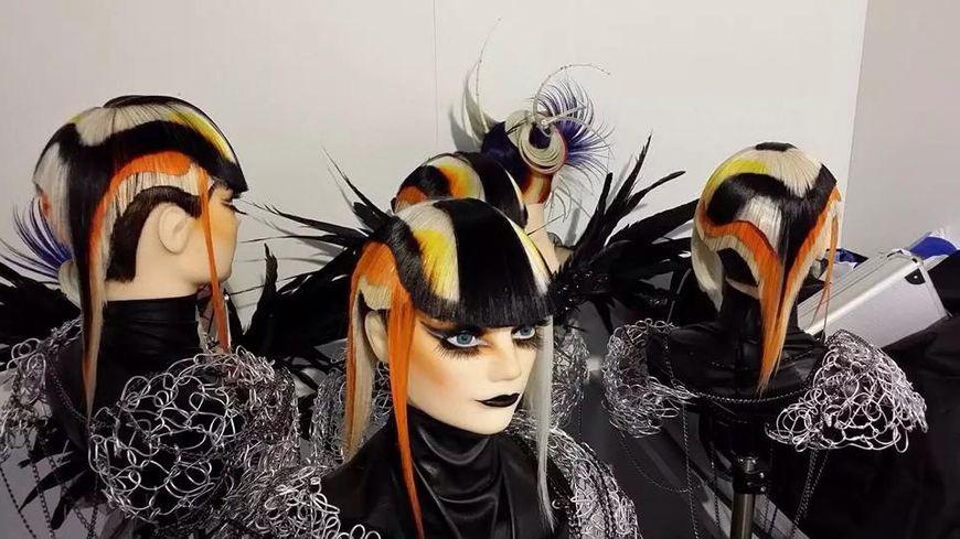 Des coiffures réalisées par Fanny Têtedoux, championne du monde de coiffure