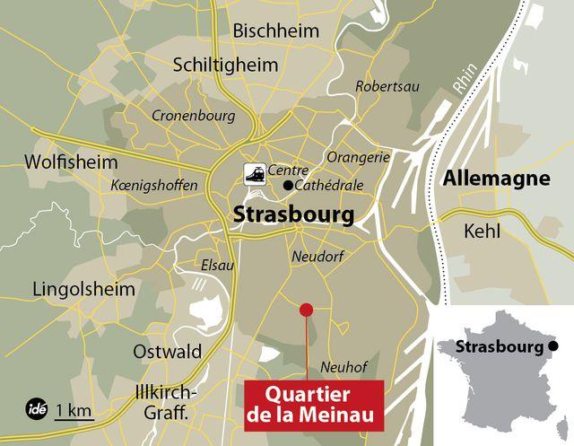 Le quartier de la Meinau à Strasbourg