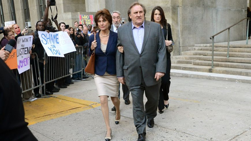 Gérard Depardieu sur le tournage de Welcome to New York