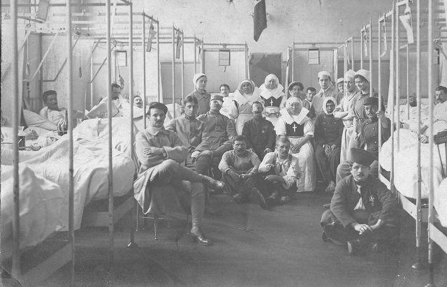Hôpital pendant la grande guerre