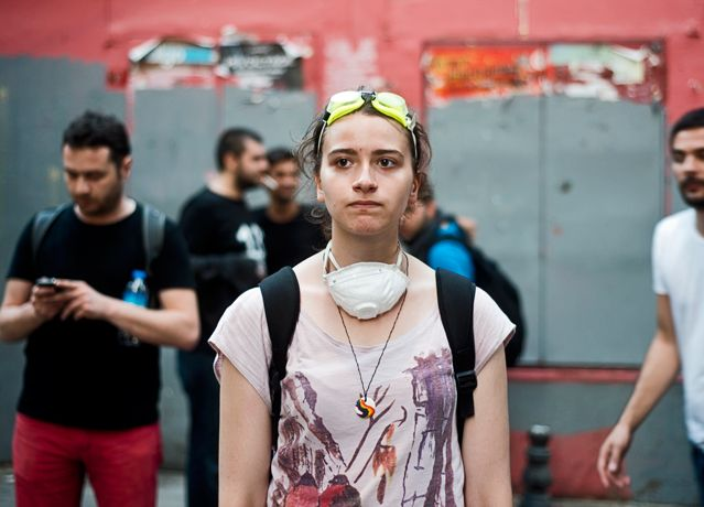 A Istanbul, une militante pro-Gezi.