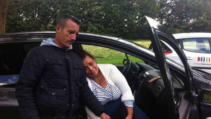 Marie-Nicaise et Gilles, les parents de Bryan, pendant les recherches - Archive du 22 mai 2014 -