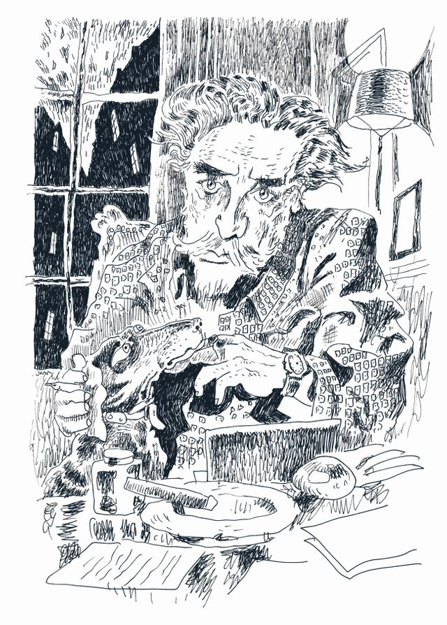 Portrait de Romain Gary par Joann Sfar