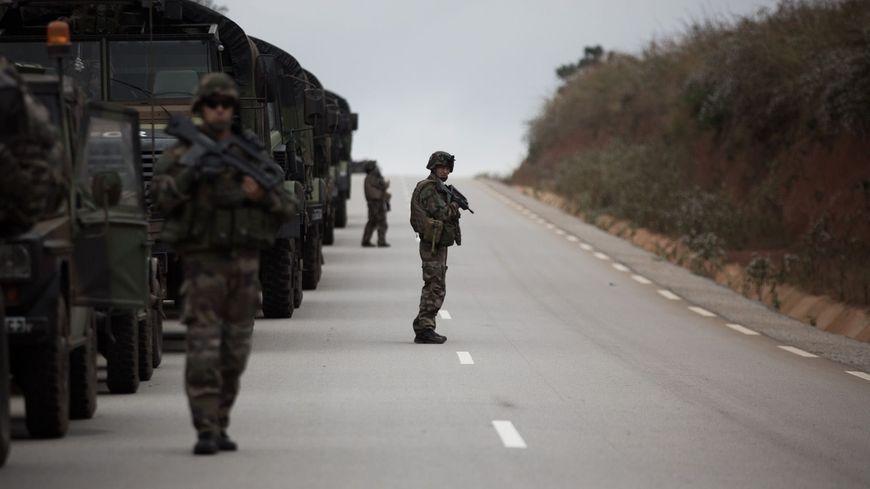 Un escadron de combat français en Centrafrique près de la ville de Bouar où le corps de la journaliste a été retrouvé