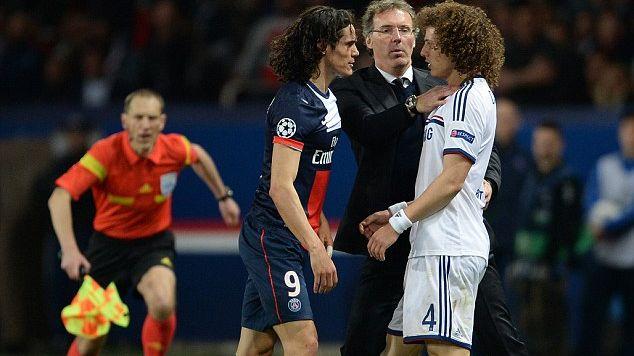 Clone of David Luiz (Chelsea) lors du match PSG / Chelsea du 2 avril dernier