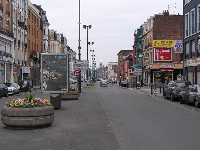 L'avenue jean Lebas à roubaix