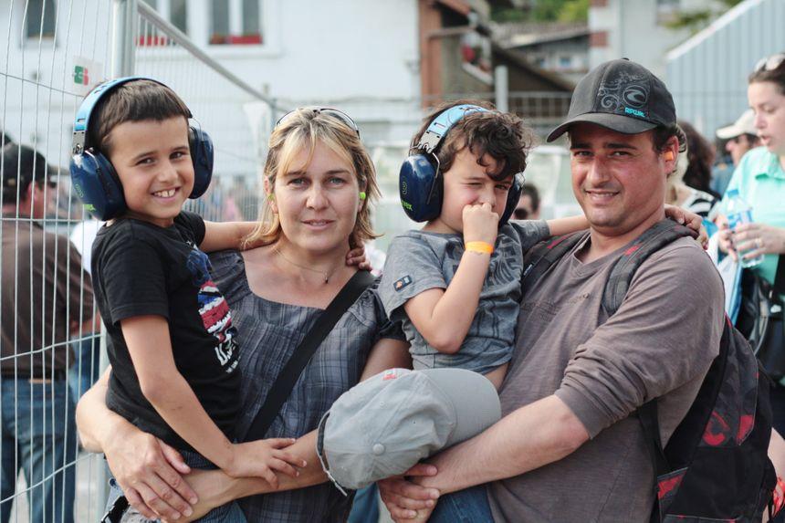 Frédéric et Thiphaine ( les parents) Erwan et Alexandre au Grand Prix de Pau