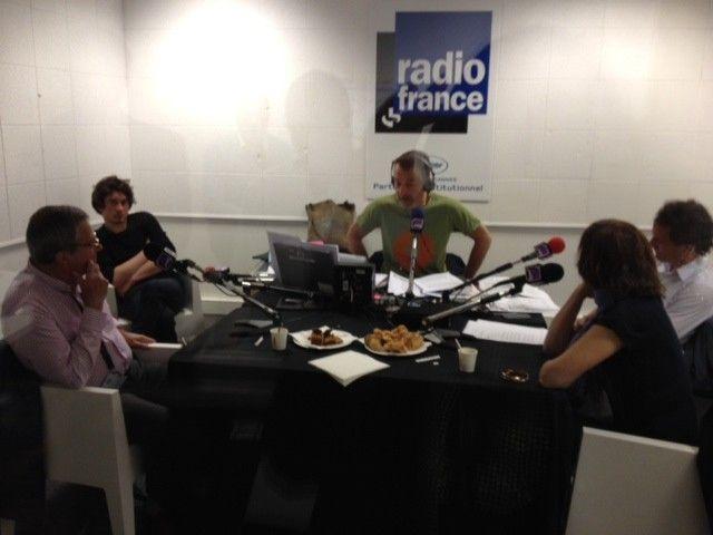 Marc Voinchet et ses invités à Cannes : Michèle Halberstadt, Marc Tessier et Xavier Lardoux