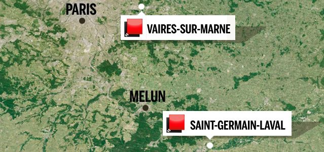 Carte du jeu des 1000 euros - Seine et Marne