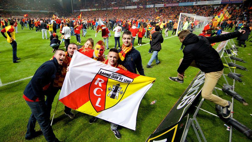 Les supporters de Lens à la fin du match contre Brest le vendredi 10 mai 2014
