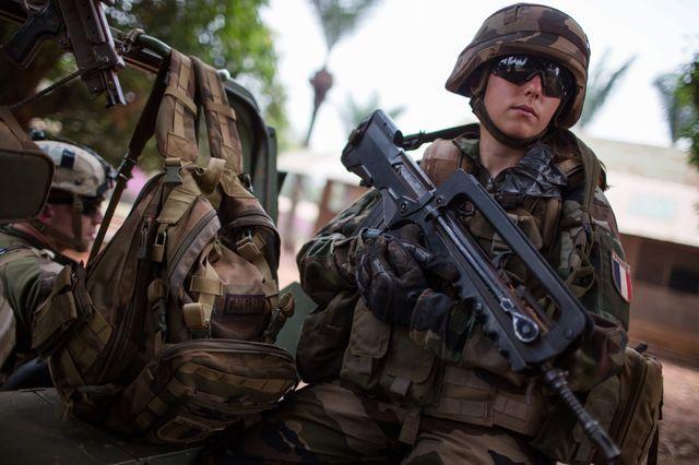 Soldat de l'opération Sangaris à Bangui