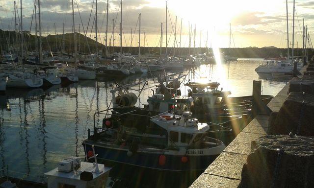 (Sable coquillier) Les bateaux de pêcheurs du port de Trébeurden