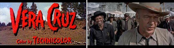 VERA CRUZ (Robert Aldrich, 1954) : Titres / Burt Lancaster et Gary Cooper