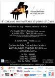 Affiche concours de piano de Lyon 2014