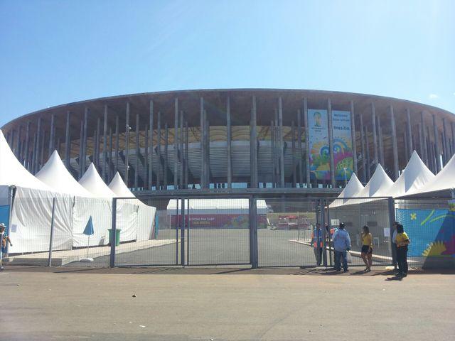 Le stade Mané Garrincha, à Brasilia