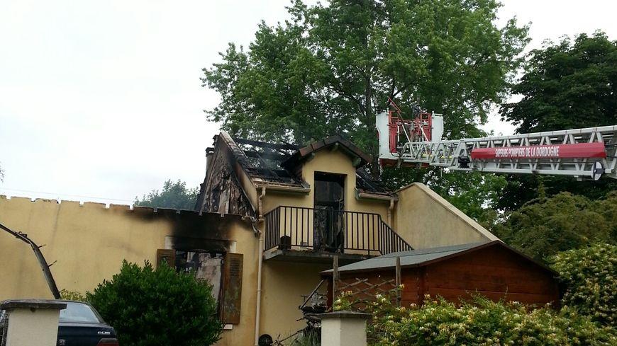 Incendie maison Saint-Astier 2