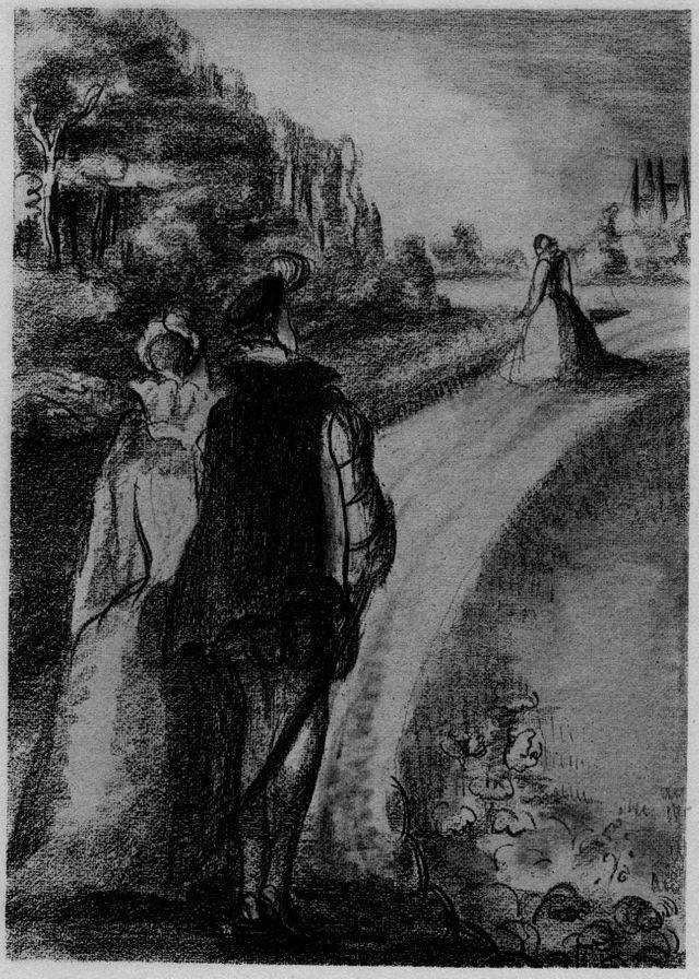 """Frontispice de """"La Princesses de Clèves"""" - Éditions de la Pléiade de 1929"""