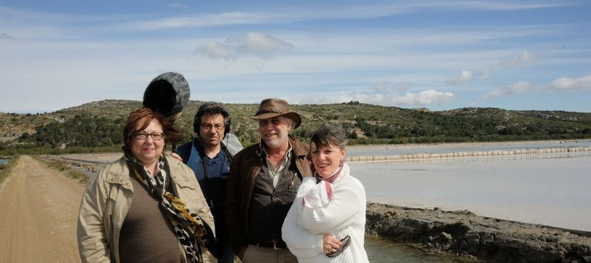 De gauche à droite : Anna Szmuc, François Rivalan, Patrice Gabanou et Marion Thiba
