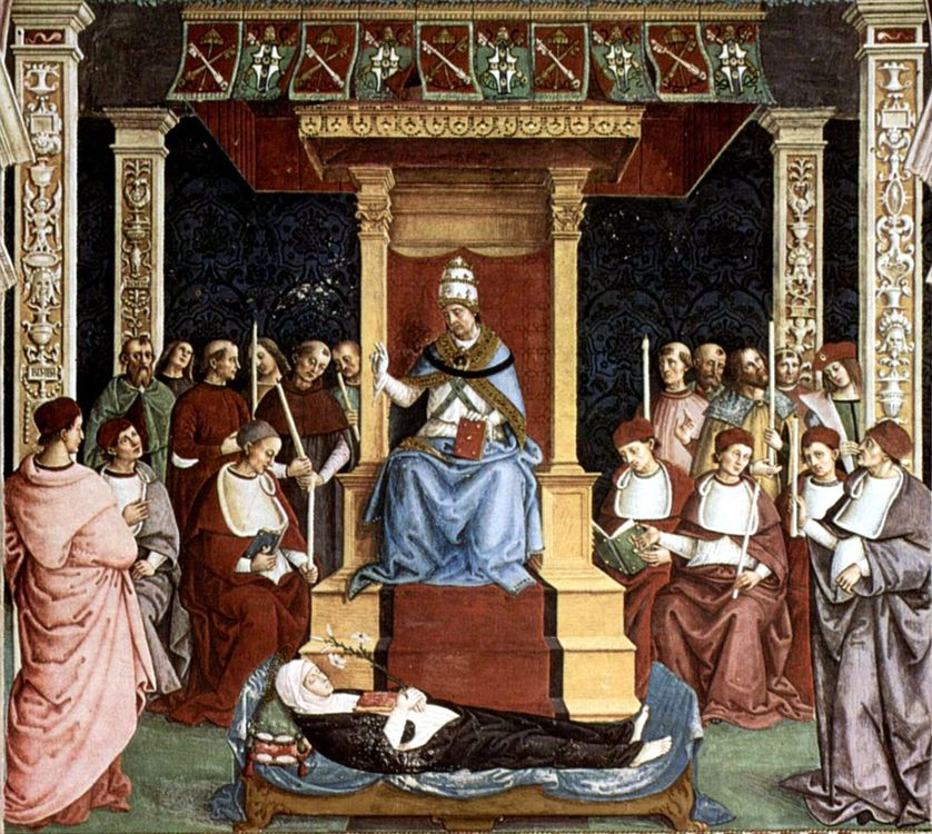 Canonisation de sainte Catherine de Sienne en 1461