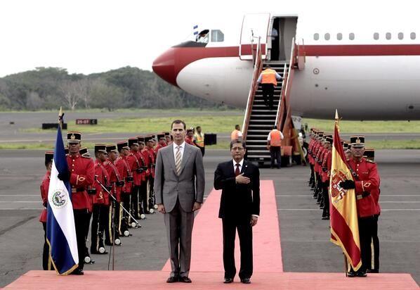 Le prince Felipe est actuellement en visite au Salvador