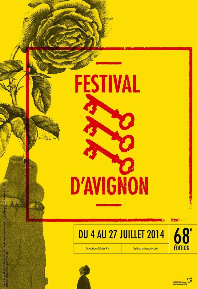 Affiche du Festival d'Avignon 2014