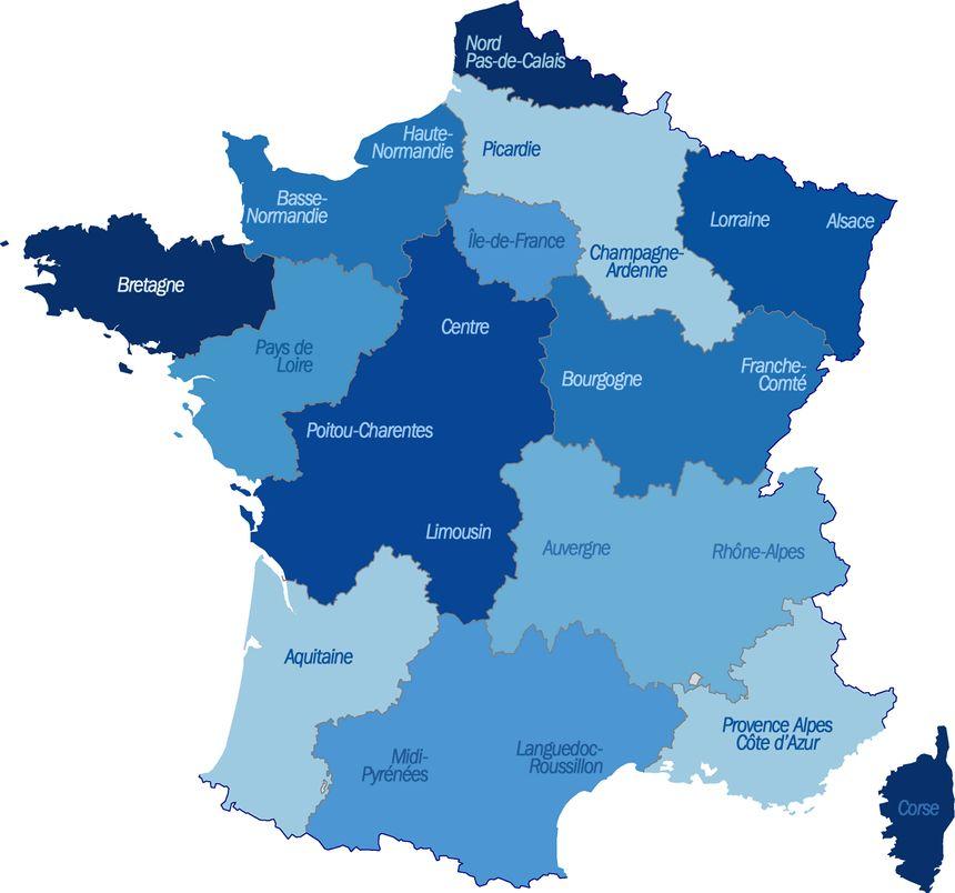 Carte Consultez Les 14 Nouvelles Regions Proposees Par Francois Hollande
