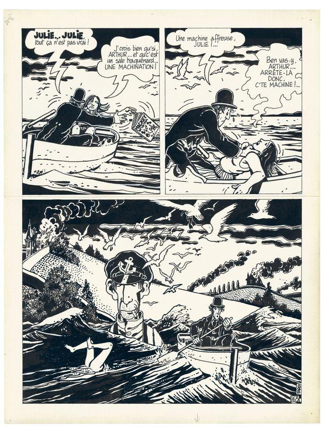 """Planche d'""""Ici même"""" de Jacques Tardi"""