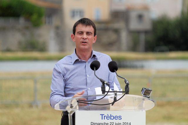 Manuel Valls à Trèbes dans l'Aude