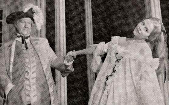 Georges Wilson (Turcaret) et Christiane Minazzoli (La Baronne) en répétition