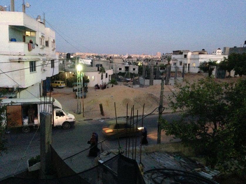 Gaza tombée du jour