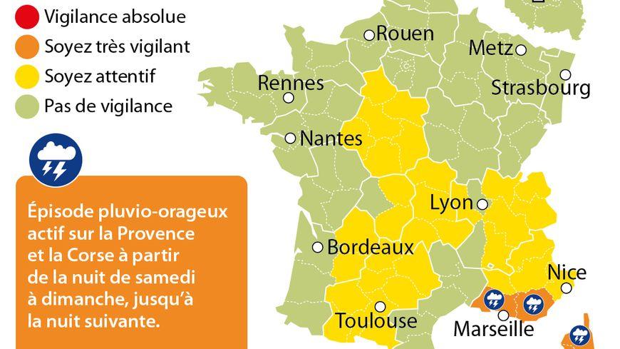 Météo : alerte orange aux orages dans 4 départements