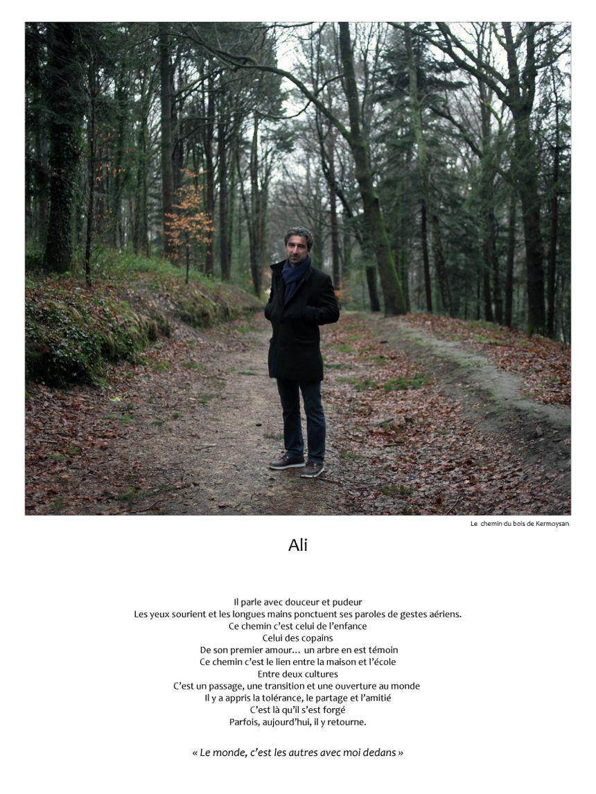 Ali sur le chemin du bois de Kermoysan