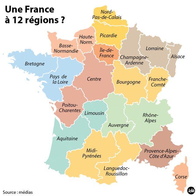 Les 12 super régions françaises