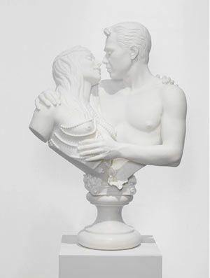 Jeff KOONS - Bourgeois Bust – Jeff and Ilona - 1991- Marbre