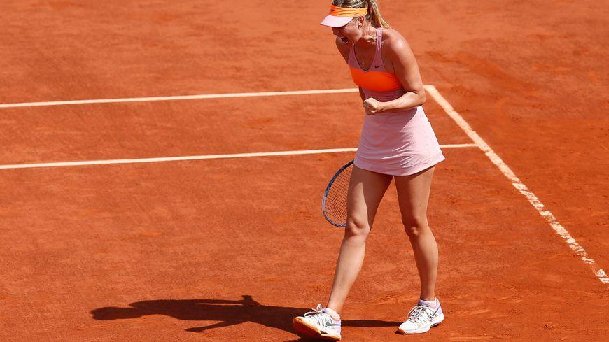 Maria Sharapova a du batailler ferme pour venir à bout de la Roumaine Simona Halep.