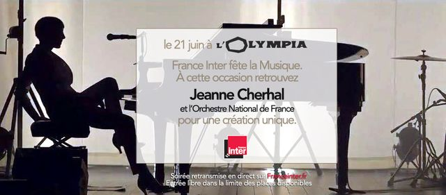 Jeanne Cherhal Olympia affiche