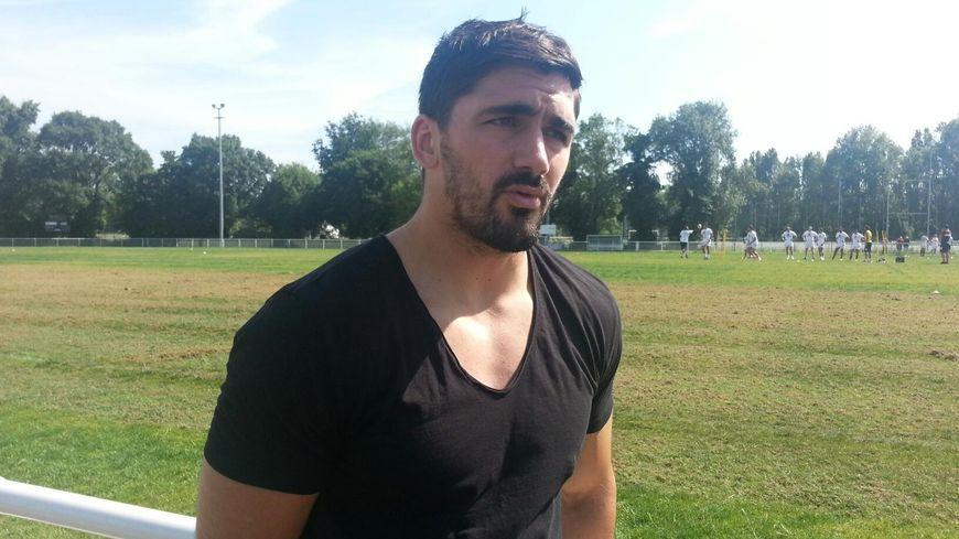 Félix Le Bourhis de passage à l'entraînement de l'UBB.