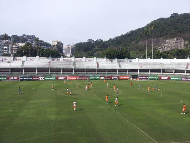 Le terrain d'entraînement du club de Fluminense, à Rio