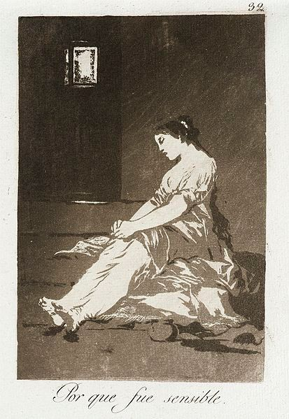 Because she was susceptible - Francisco Goya y Lucientes (Spain, Fuendetodos, 1746-1828)