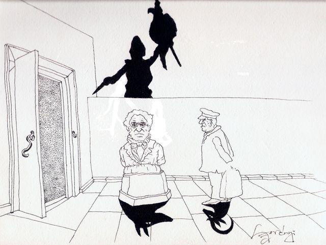 Le dessinateur Gàbor Szerényi