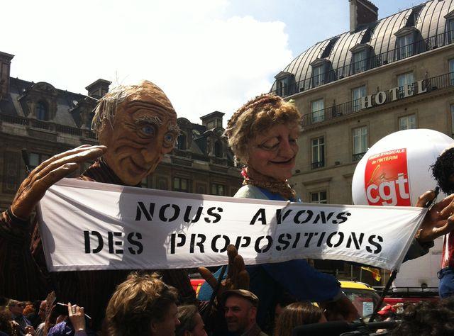 Manifestation des intermittents devant le ministère de la Culture