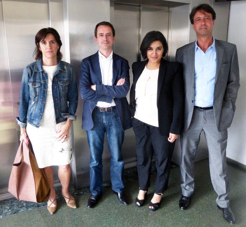 De gche à dte : Mariette Darrigrand, Olivier Auguste, Nassira El Moaddem et Thierry Borsa