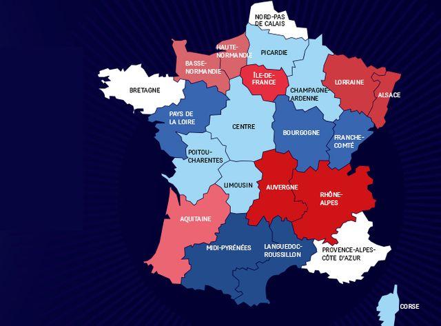 La France des 14 régions