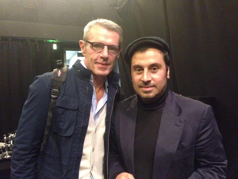 Panos Koutras et Lambert Wilson dans le RDV