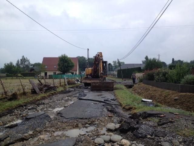 Lendemain d'inondations à Nousty, en Béarn