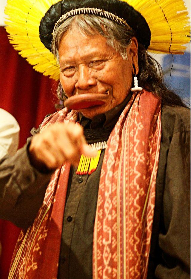 Raoni Metuktire, chef de la tribu des Kayapos, devenu porte-parole des Indiens en Amazonie